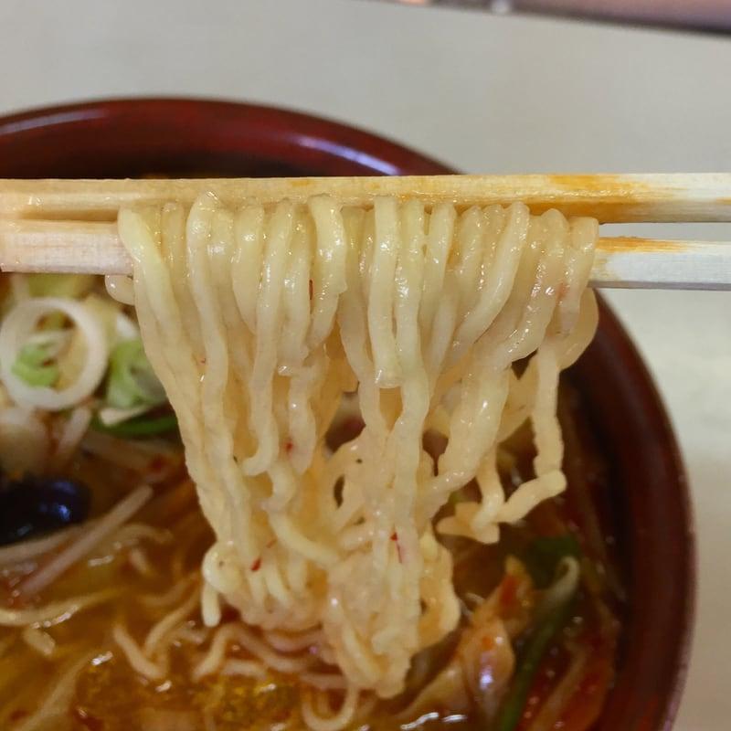 トレビアン食堂 秋田県山本郡藤里町 タンタンメン 麺