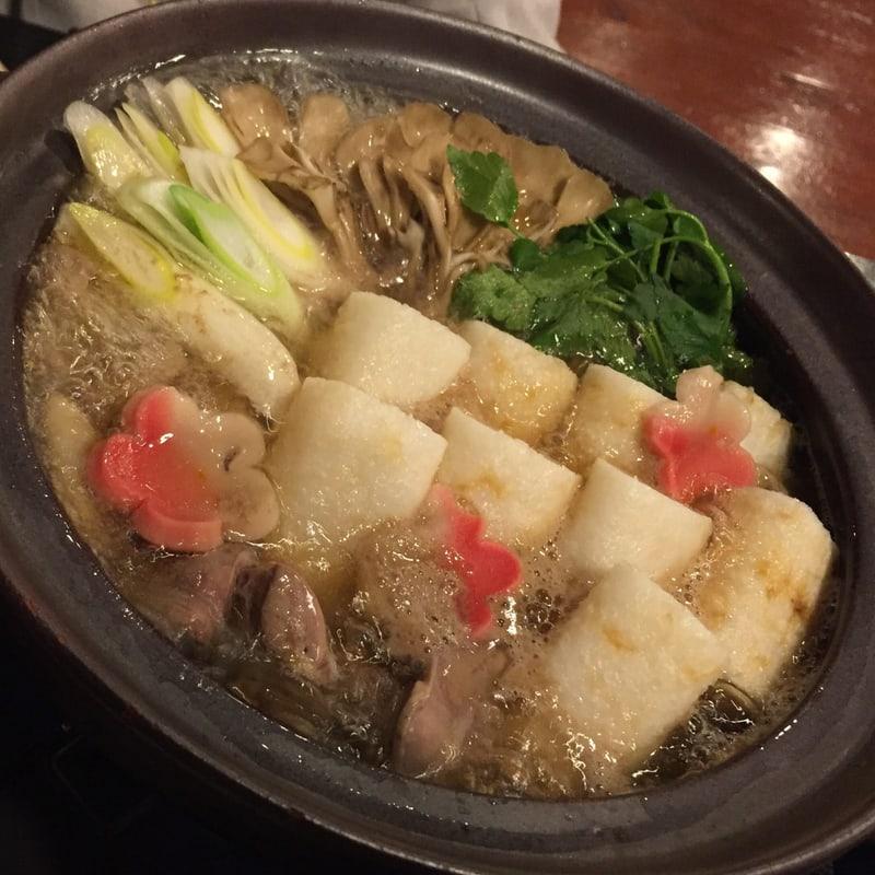 一の酉 川反店 秋田市大町 秋田の味コース 比内地鶏きりたんぽ鍋
