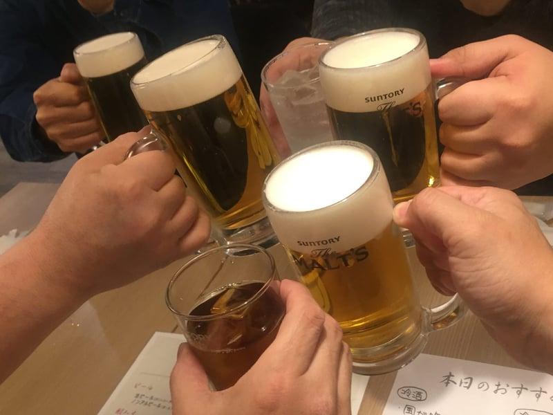 めし ひろ田 福島県福島市上町 生ビール 乾杯
