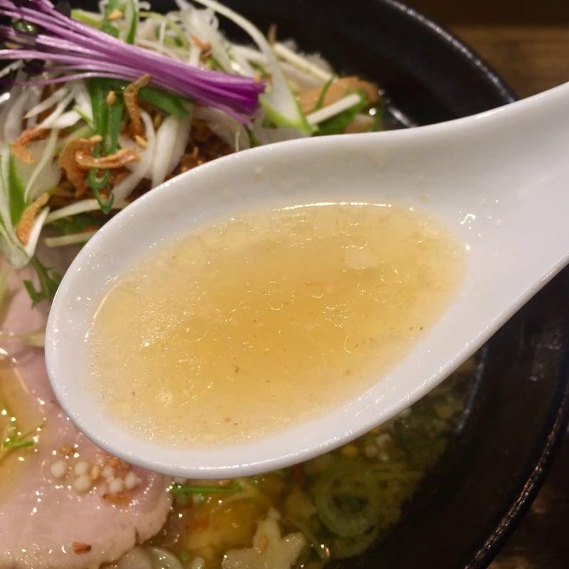 麺屋 信成 福島県郡山市堤 辛玉コク塩 塩ラーメン スープ