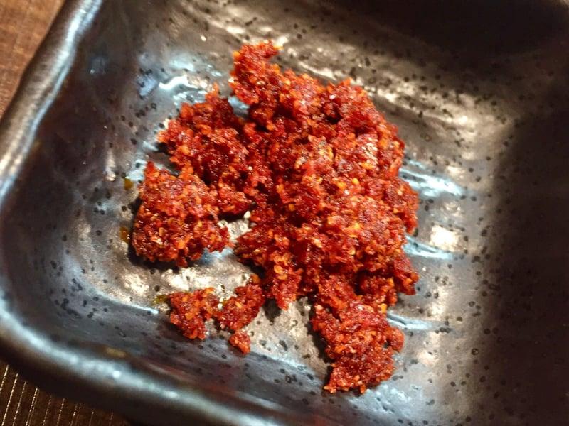 自家製麺 じゃじゃ。 じゃじゃまる 福島県郡山市西ノ内 つけ麺 辛味 辛っつけ麺 具