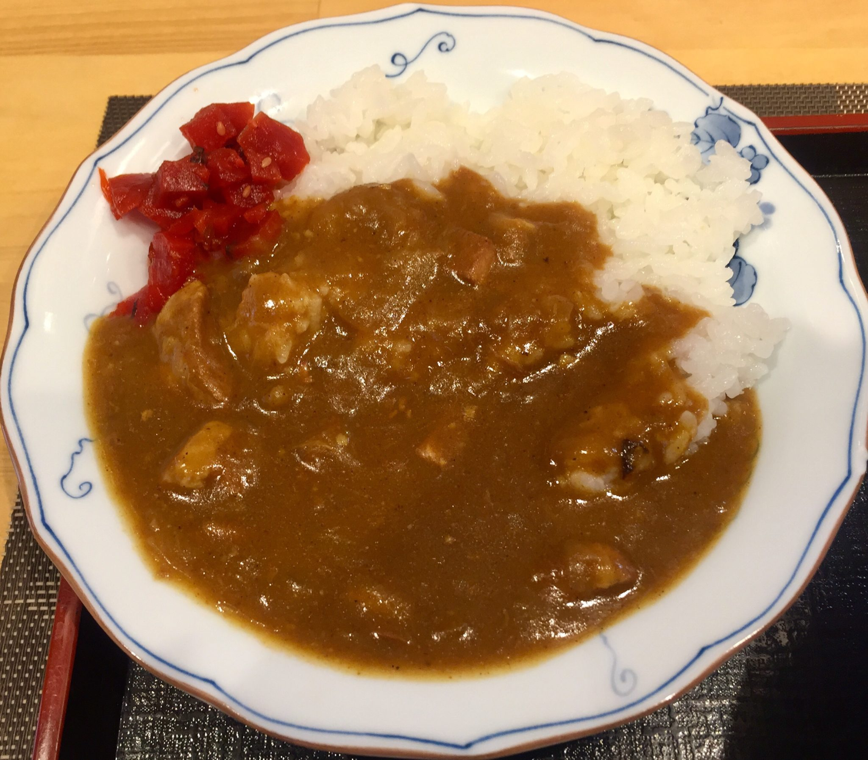食の館 香味 秋田県秋田市土崎港中央 ミニカレー