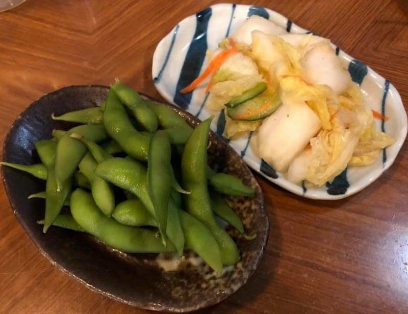 炭火焼き専門店 かしらや 秋田県横手市平城町 枝豆 漬け物