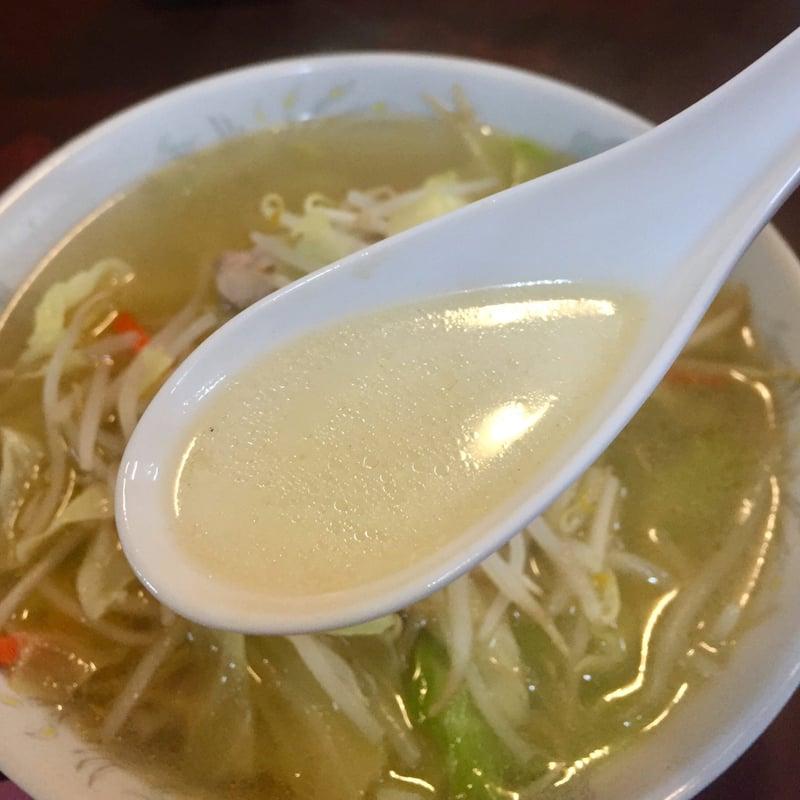 マルホ食堂 マルホハッピー亭 秋田県秋田市泉中央 タンメン スープ