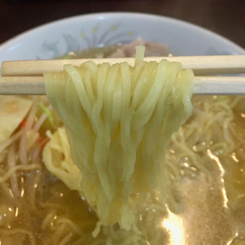 マルホ食堂 マルホハッピー亭 秋田県秋田市泉中央 タンメン 麺