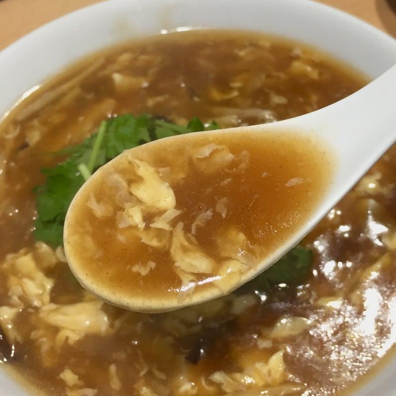 中華ダイニング 金龍酒家 きんりゅうしゅか 秋田県秋田市中通 酸辣湯麺 スープ