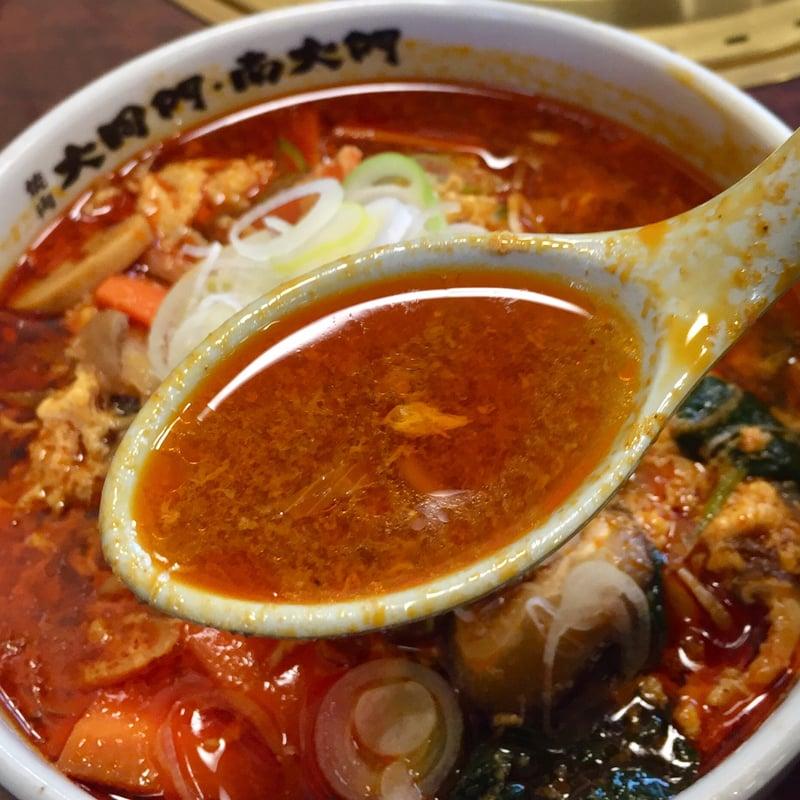 焼肉大同門 秋田店 秋田県秋田市卸町 カルビラーメン ランチ スープ