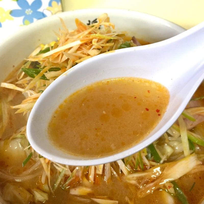 ラーメン・定食 将 秋田県湯沢市裏門 ネギみそ麺 ネギ味噌ラーメン スープ