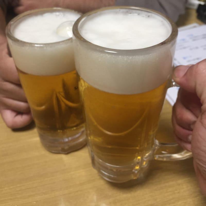 心の味 慶 よろこび 秋田県湯沢市表町 生ビール 乾杯