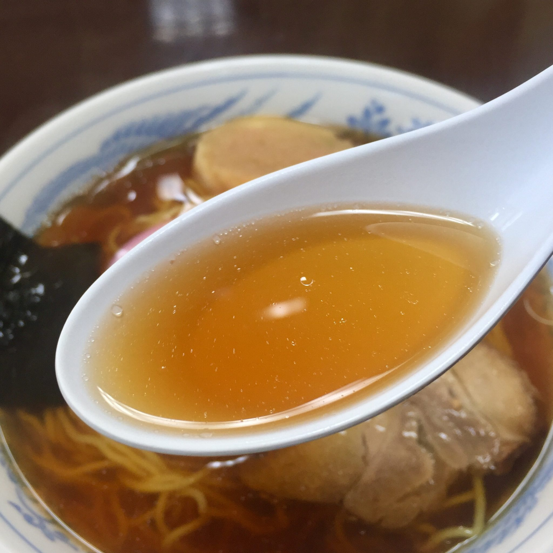 南外ふるさと館食堂 秋田県大仙市南外 中華そば スープ