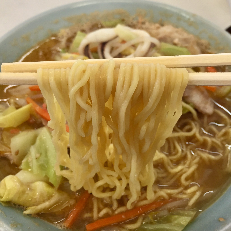 中園食堂 秋田県秋田市山王中園町 味噌タンメン 麺