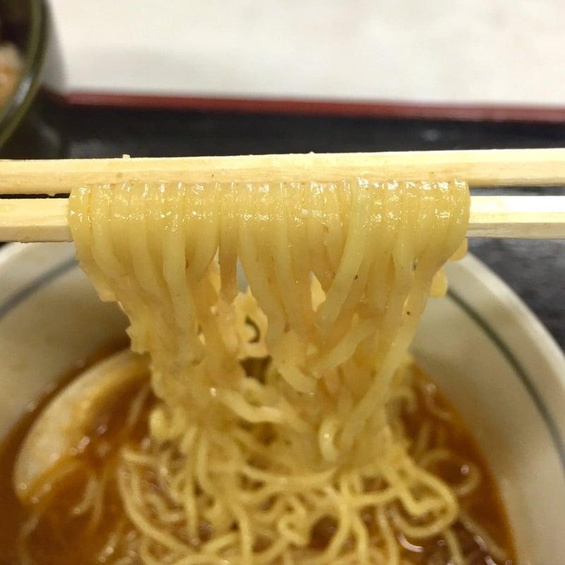 味の更科家 秋田県秋田市手形山崎町 ミニ坦々麺 麺