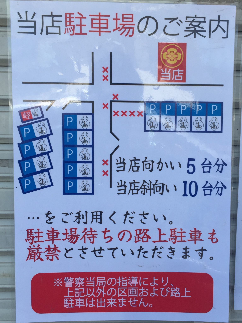 らぁ麺屋 飯田商店 神奈川県足柄下郡湯河原町 駐車場案内