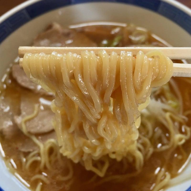益味食堂 秋田県秋田市卸町 味噌ラーメン 麺