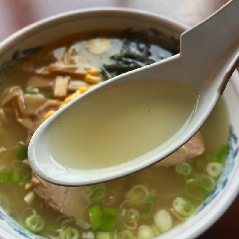 ラーメンハウス協和 秋田県大仙市協和船岡 塩バターコーンラーメン スープ
