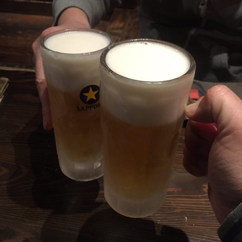 肉問屋 どでん舌 秋田県秋田市中通 生ビール 乾杯