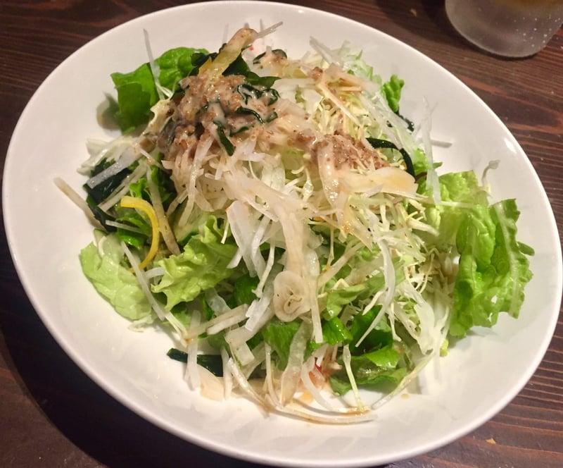 肉問屋 どでん舌 秋田県秋田市中通 お通し サラダ