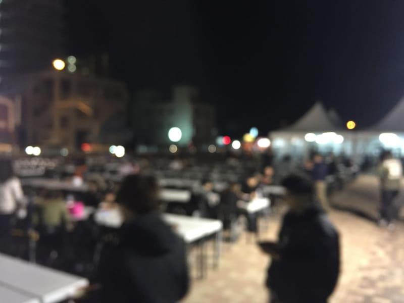 中華蕎麦とみ田 富田治presents 最強ラーメン祭in小山御殿広場 栃木県小山市 テーブル席