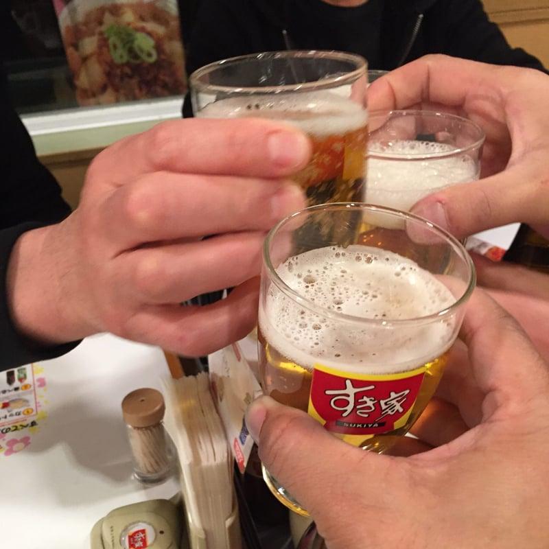 すき家 小山店 栃木県小山市 乾杯
