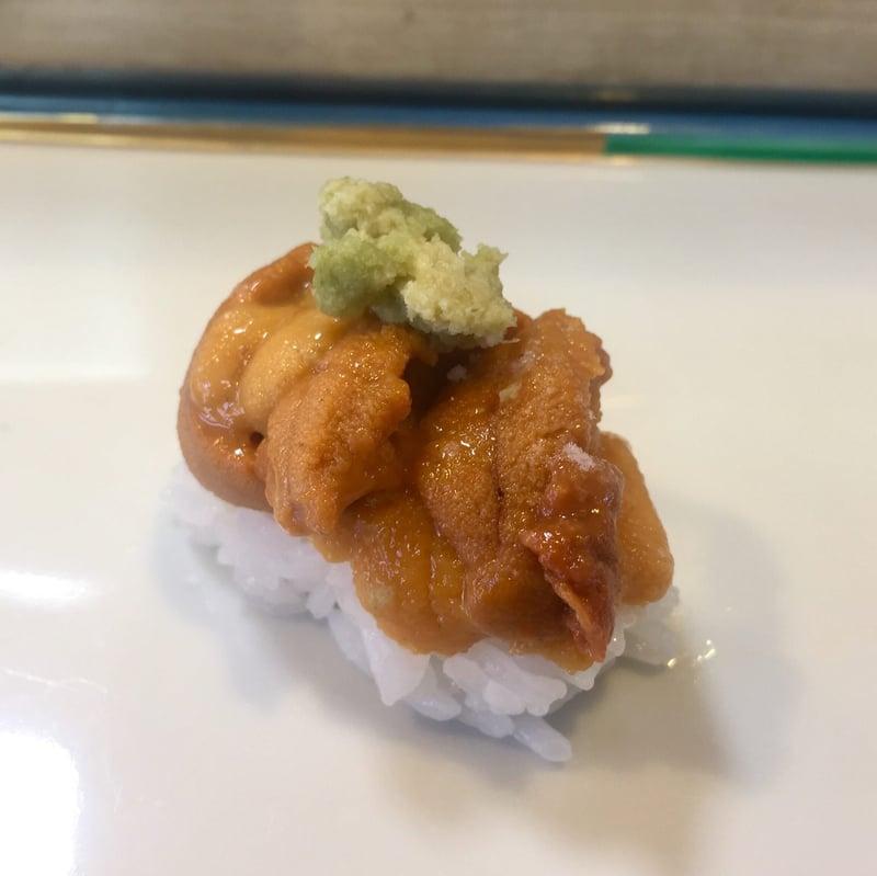 大寿司 だいずし 岩手県宮古市西町 お任せ握り ウニ 雲丹 山葵のせ
