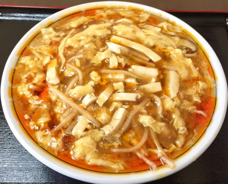 中国料理 パリスタ飯店 秋田県北秋田市松葉町 酸辣湯麺