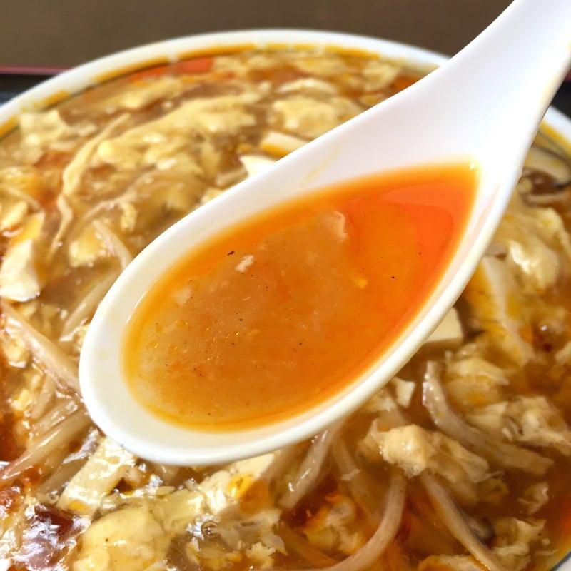 中国料理 パリスタ飯店 秋田県北秋田市松葉町 酸辣湯麺 スープ