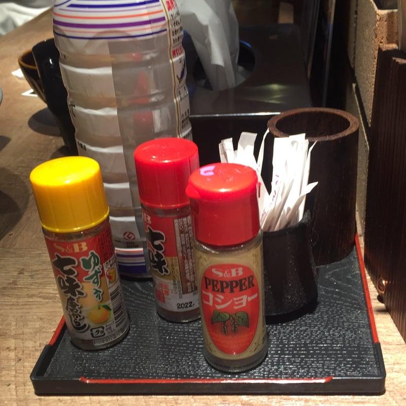 居酒屋 串バカ 我武者羅 秋田県秋田市中通 汁なし油そば 煮干し 味変 調味料