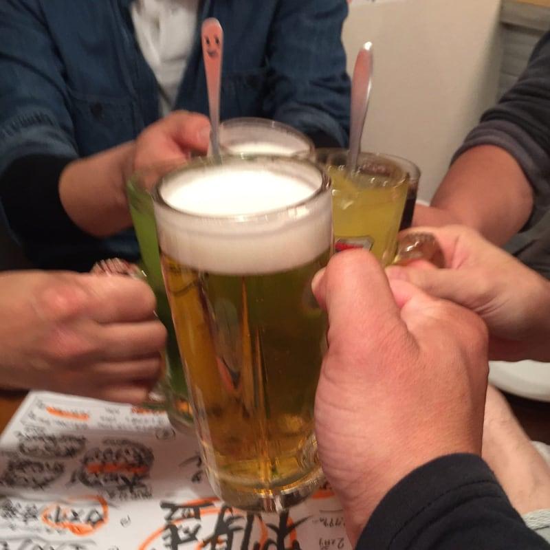 石巻港 津田鮮魚店 国分町店 仙台市青葉区国分町 生ビール 乾杯