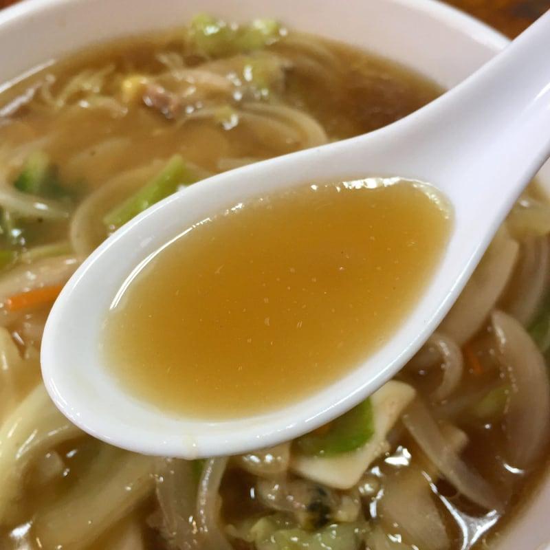 ラーメン飯店 来華 秋田県秋田市広面 ご当地ラーメン 正油あんかけちゃんぽん スープ