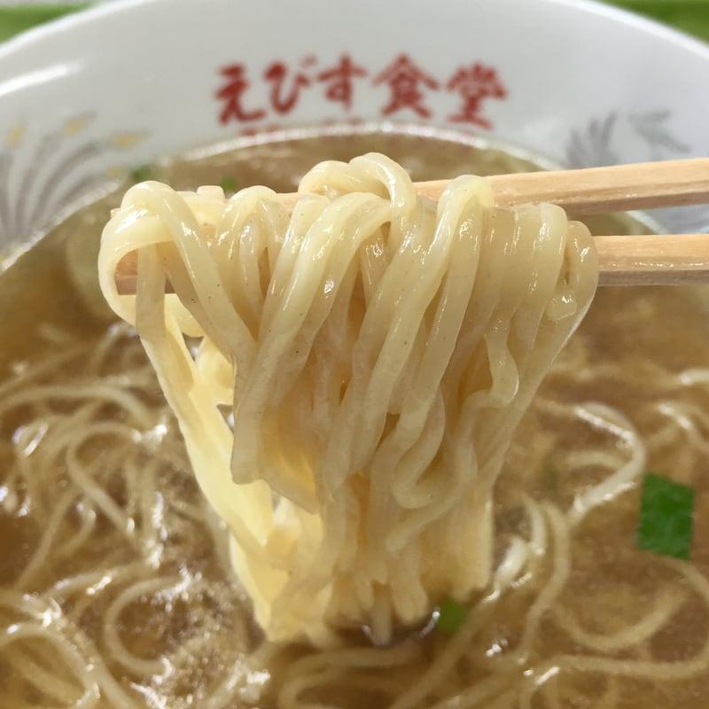 えびす食堂 割烹 ゑびす 秋田県雄勝郡羽後町西馬音内 中華そば ラーメン 麺