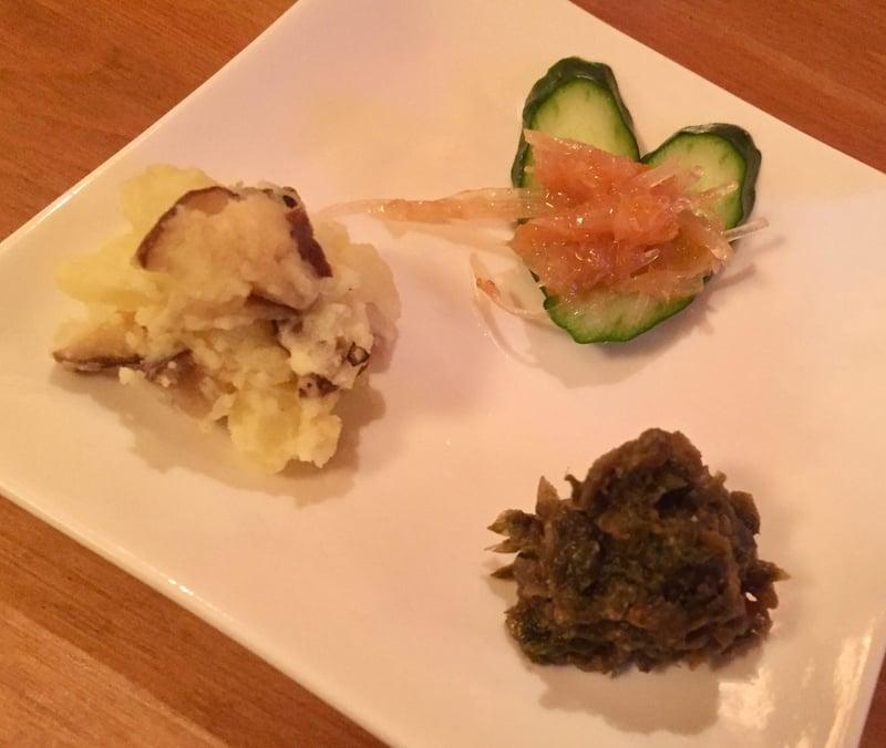 BAR JAH バー・ジャー 秋田県秋田市大町 いぶりがっこのポテトサラダ&梅なんこつ&ばっけ味噌