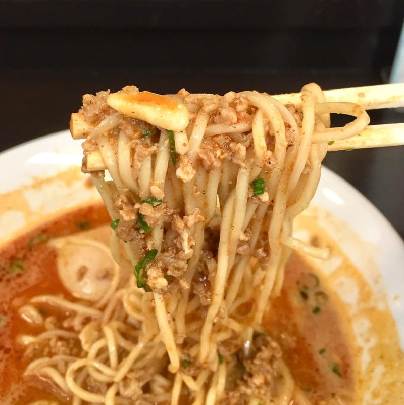 麺屋 満開 秋田県秋田市広面 泡系 担々麺 麺