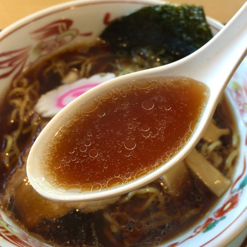 五百川食堂 福島県本宮市荒井 あっさり醤油らーめん 本宮ブラック スープ
