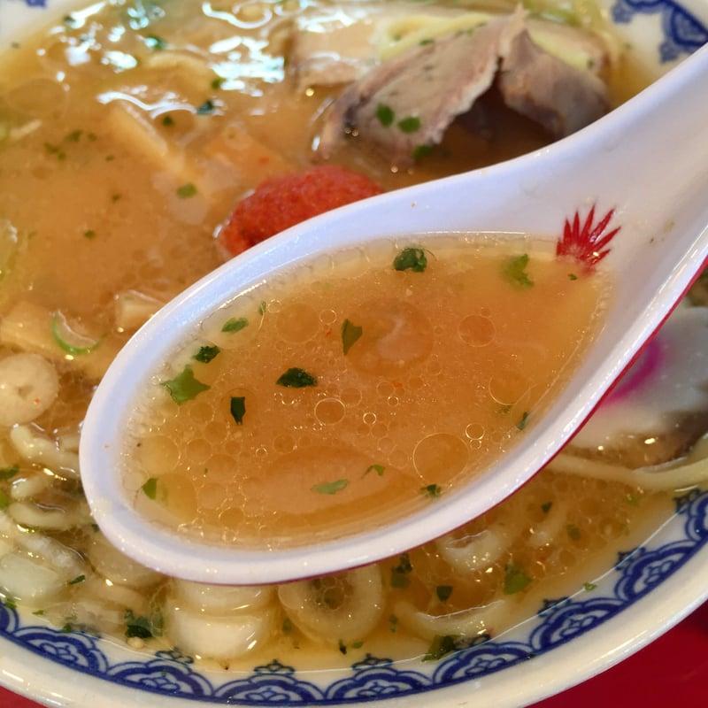 赤湯ラーメン龍上海 米沢店 山形県米沢市春日 赤湯からみそラーメン 辛味噌ラーメン スープ