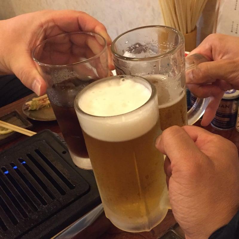 煙屋 司 秋田県秋田市中通 生ビール 乾杯