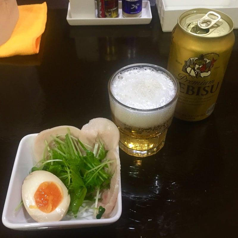 無化調ラーメン 麺屋theさとう 秋田県秋田市山王 缶ビール ヱビスビール おつまみセット