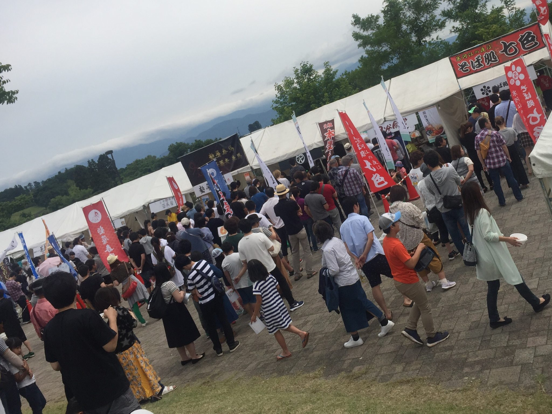 さがえ初夏の麺まつり2019 山形県寒河江市 最上川ふるさと総合公園