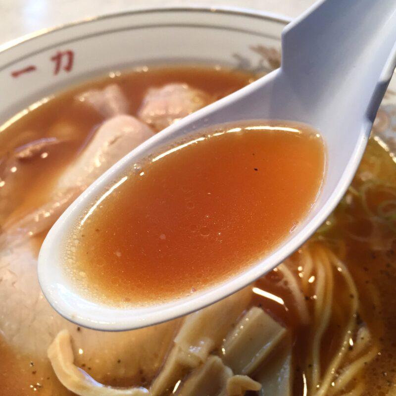 中華そば 一力 福井県敦賀市中央町 敦賀ラーメン 中華そばのスープ