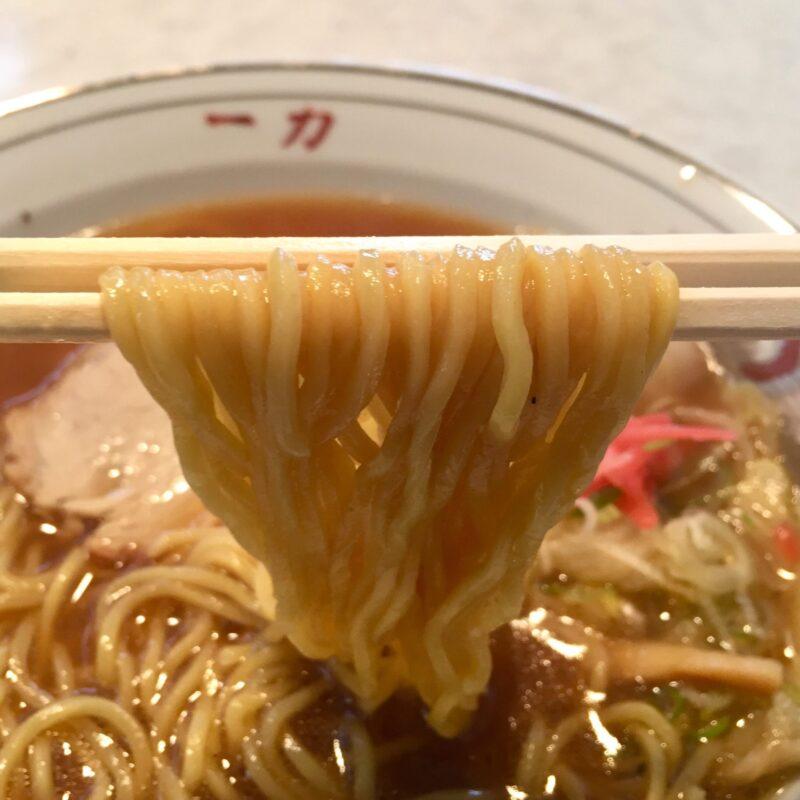 中華そば 一力 福井県敦賀市中央町 敦賀ラーメン 中華そばの麺