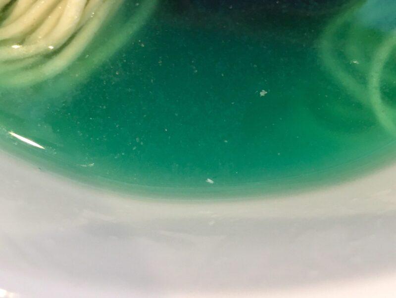 新旬屋本店 山形県新庄市沖の町 冷たい海の塩ラーメン Marine blue noodle マリーンブルーヌードル スープ
