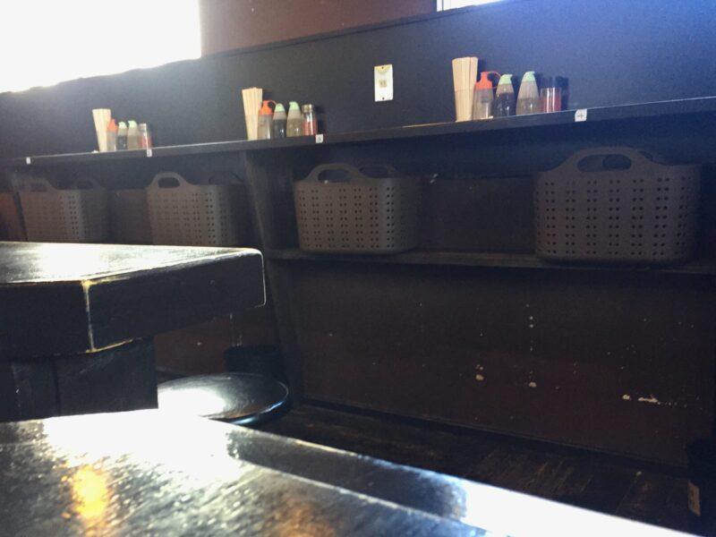 ラーメン マシンガン 秋田県秋田市広面 立ち食い席 カウンター