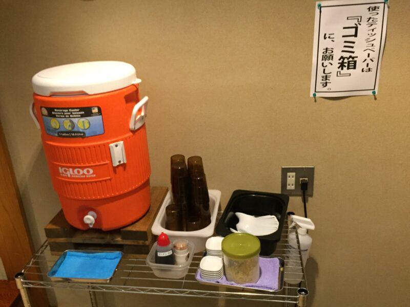 自家製麺 ロックオブエイジズ 山形県新庄市若葉町 サイドテーブル