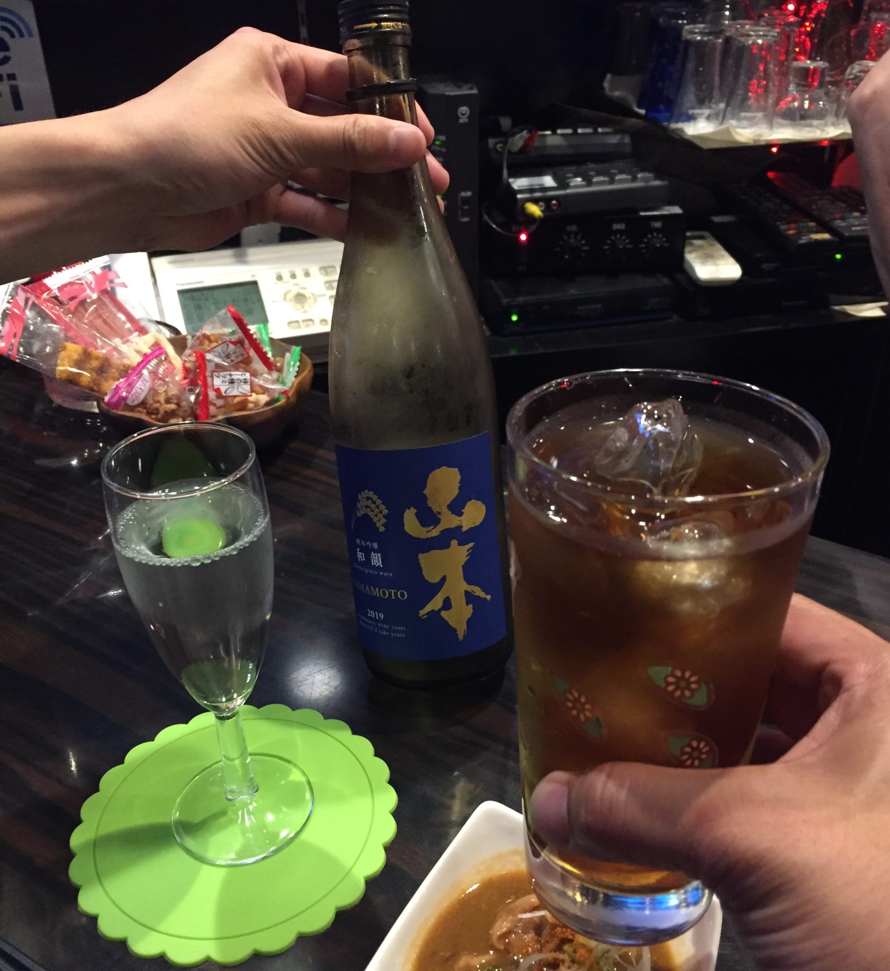 飲み処andキッチン ほのじぐみ 秋田市南通 ウーロンハイ 乾杯