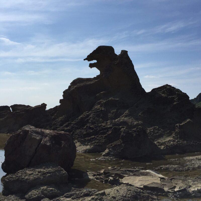 男鹿 ドライブ ゴジラ岩