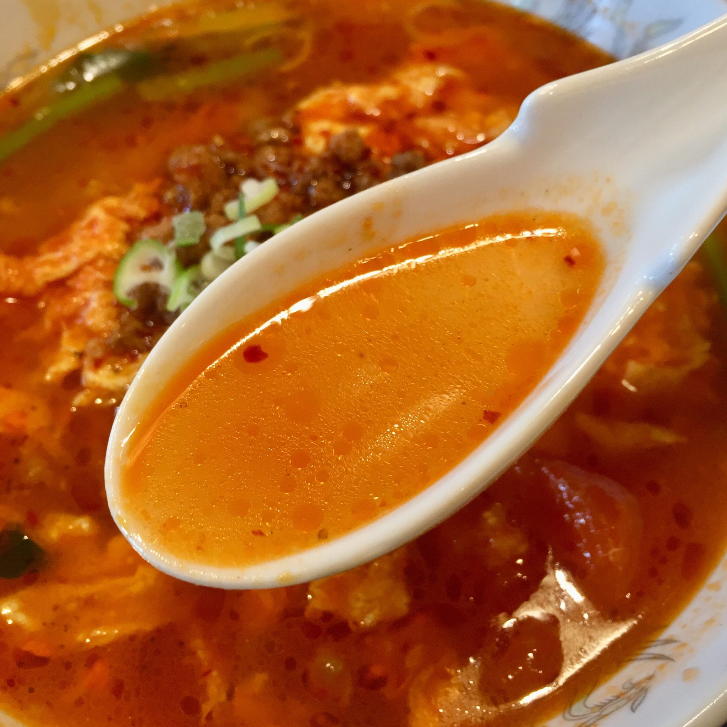 小金龍 土崎店 秋田県秋田市土崎港東 トマト卵あんかけラーメン スープ