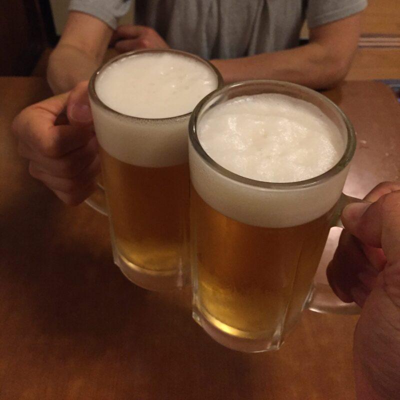 鶏料理 鳥安 とりやす 福島県福島市陣場町 生ビール 乾杯