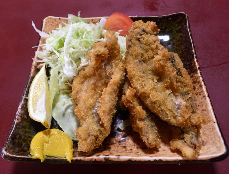 食事処 鈴女 魚料理 すずめ 千葉県銚子市中央町 あじフライ 鯵 鰺