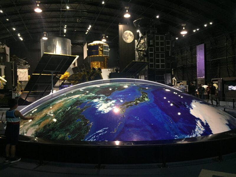 JAXA筑波宇宙センター 茨城県つくば市千現 展示館 SPACE DOME スペースドーム 100万分の1スケール 美しい地球