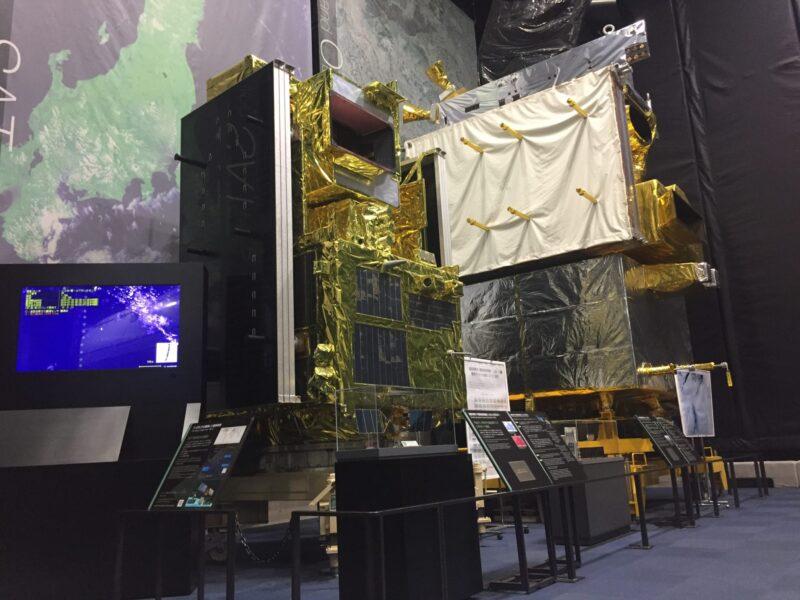 JAXA筑波宇宙センター 茨城県つくば市千現 展示館 SPACE DOME スペースドーム 温室効果ガス観測技術衛星 いぶき 陸域観測技術衛星 だいち