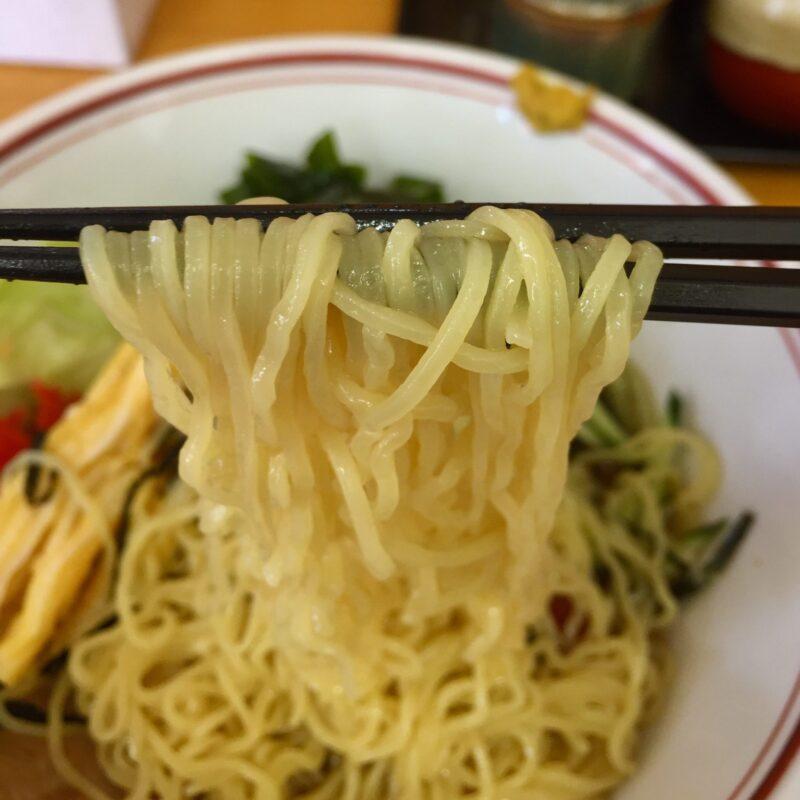 らーめん亭 かぜ 秋田県秋田市泉南 冷し中華 麺